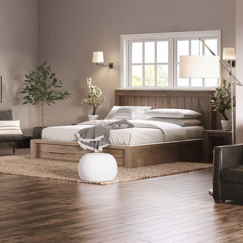 Modern, Industrial, Farmhouse, Vintage Bedroom Design by Havenly Interior Designer Amanda