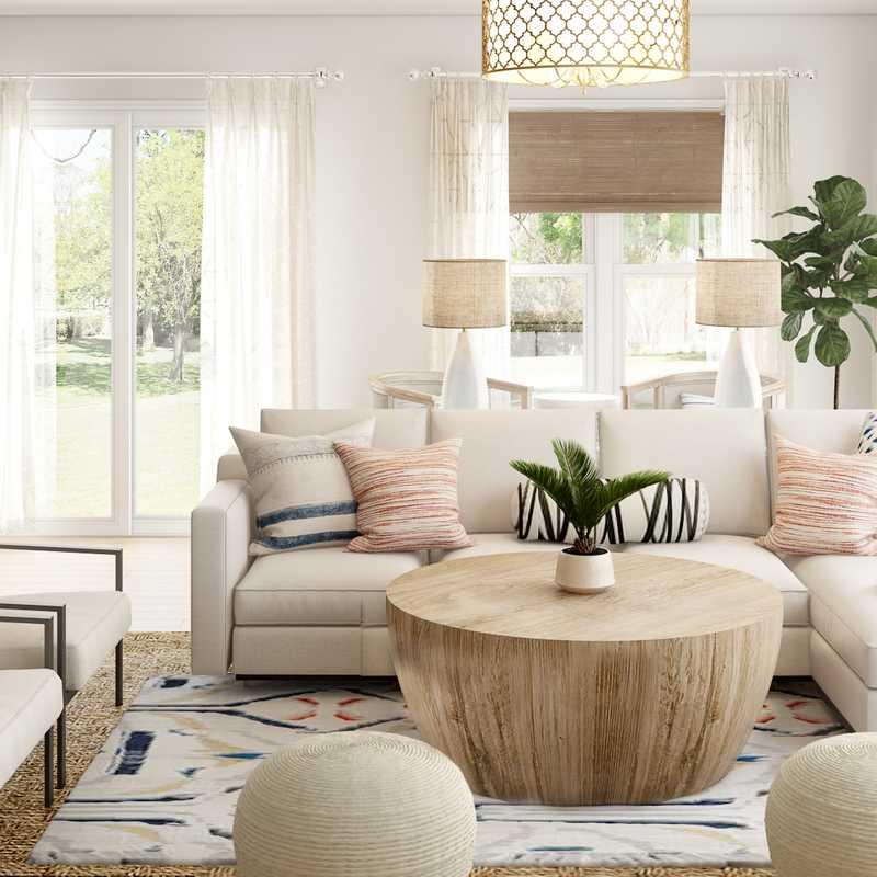 Contemporary, Bohemian, Rustic Living Room Design by Havenly Interior Designer Dani