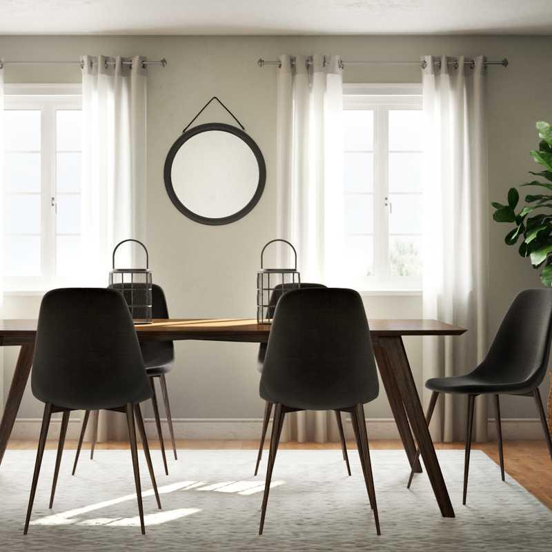 Modern, Midcentury Modern Dining Room Design by Havenly Interior Designer Laura