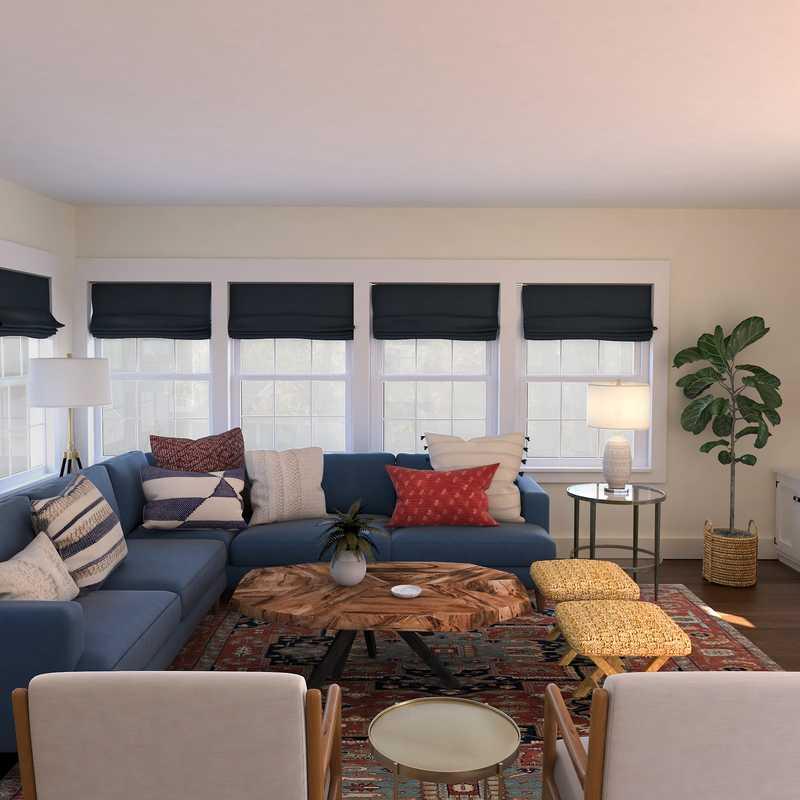 Eclectic, Midcentury Modern Living Room Design by Havenly Interior Designer Erin
