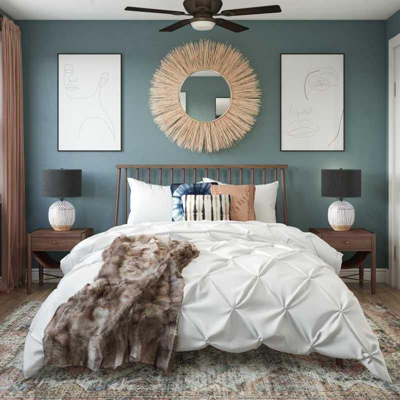 Modern, Eclectic, Bohemian, Global Bedroom Design by Havenly Interior Designer Matthew