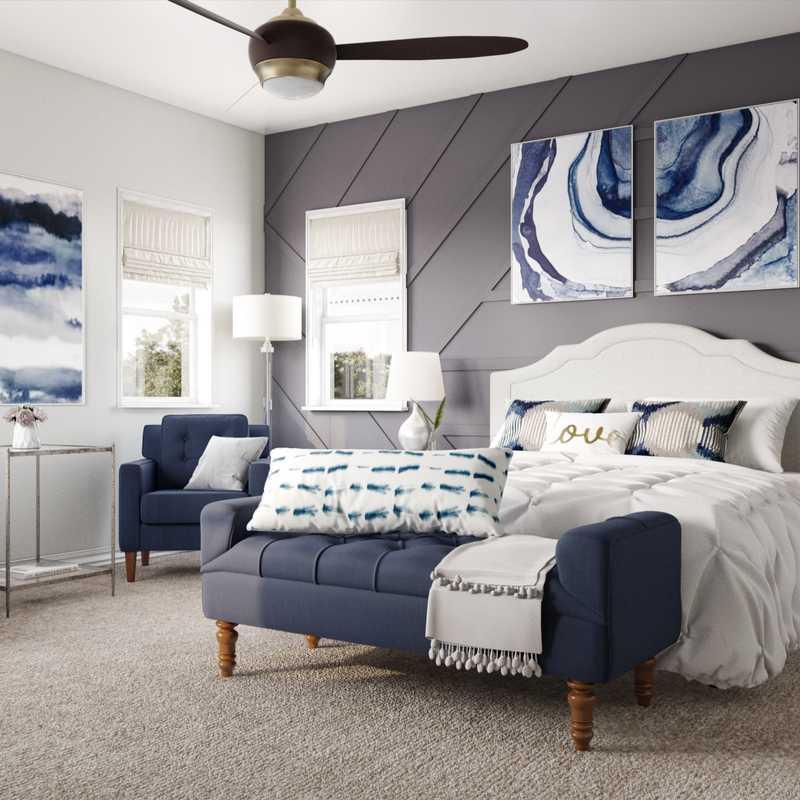 Traditional, Transitional Bedroom Design by Havenly Interior Designer Austin