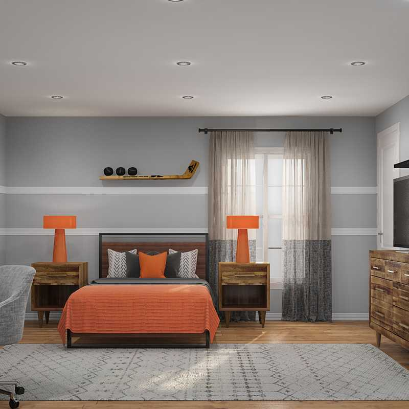 Classic, Industrial, Transitional Bedroom Design by Havenly Interior Designer Sandra