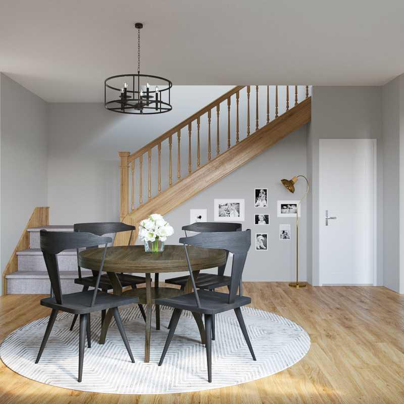 Coastal, Midcentury Modern Dining Room Design by Havenly Interior Designer Shirley