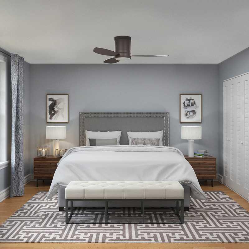 Contemporary, Modern, Transitional, Minimal Bedroom Design by Havenly Interior Designer Robyn