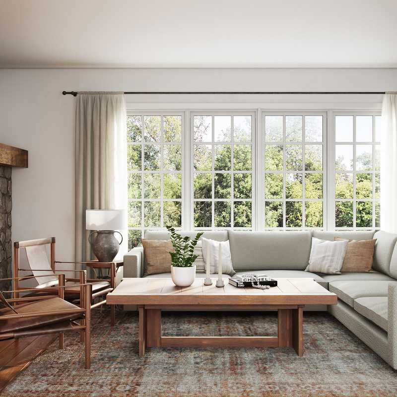 Eclectic, Bohemian Living Room Design by Havenly Interior Designer Sarah