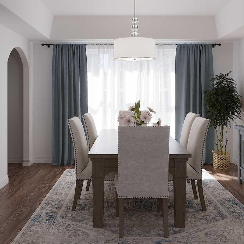 Classic, Coastal, Transitional Dining Room Design by Havenly Interior Designer Christine