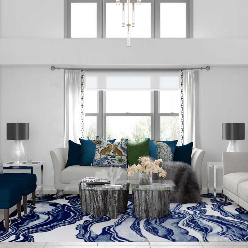 Contemporary, Glam Living Room Design by Havenly Interior Designer Melisa