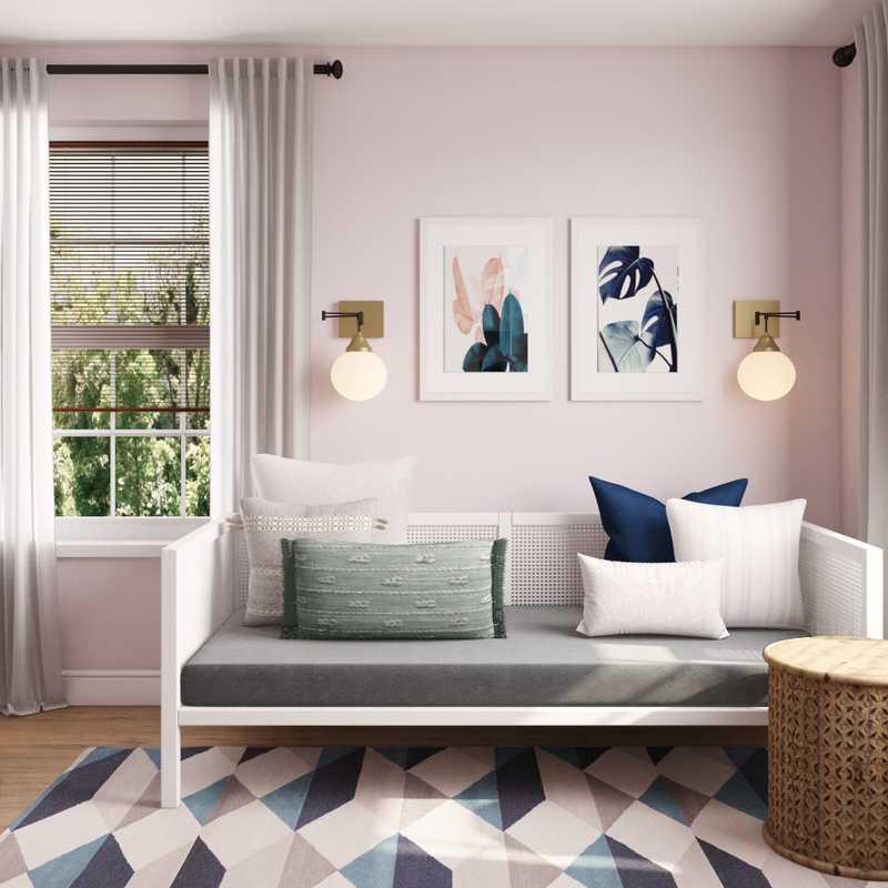 Bohemian, Glam Bedroom Design by Havenly Interior Designer Hannah