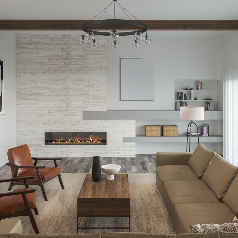Modern, Rustic, Minimal Living Room Design by Havenly Interior Designer Erin
