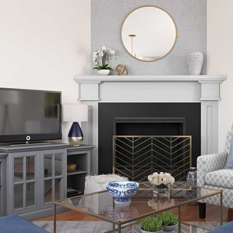 Classic, Transitional, Classic Contemporary Living Room Design by Havenly Interior Designer Hanna