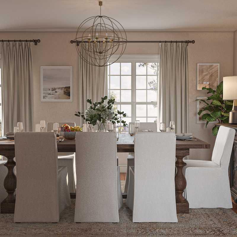 Classic, Farmhouse, Rustic Dining Room Design by Havenly Interior Designer Namita