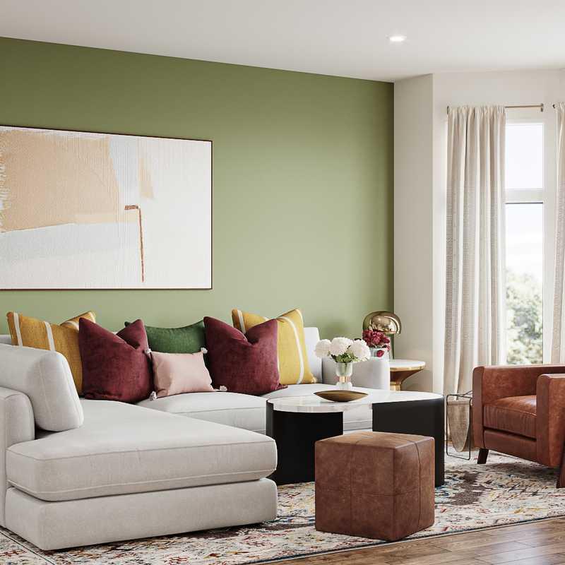 Modern, Eclectic, Glam Living Room Design by Havenly Interior Designer Katerina