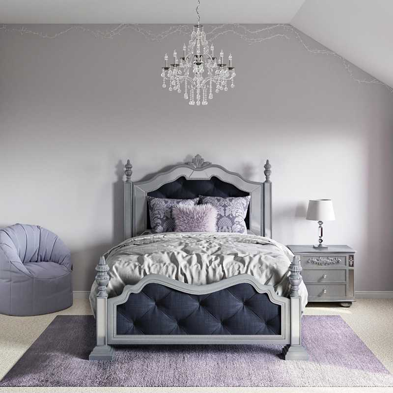 Classic, Glam Bedroom Design by Havenly Interior Designer Megan