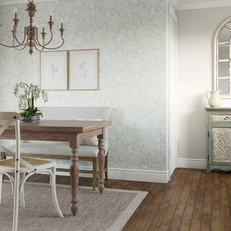 Classic, Coastal, Farmhouse Dining Room Design by Havenly Interior Designer Regina