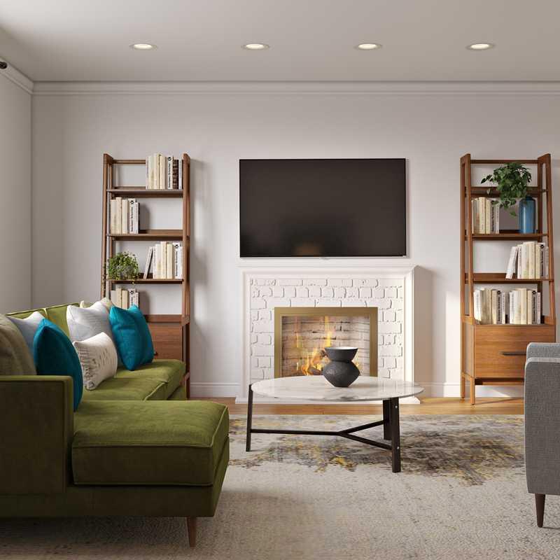 Contemporary, Modern, Midcentury Modern Living Room Design by Havenly Interior Designer Bethany