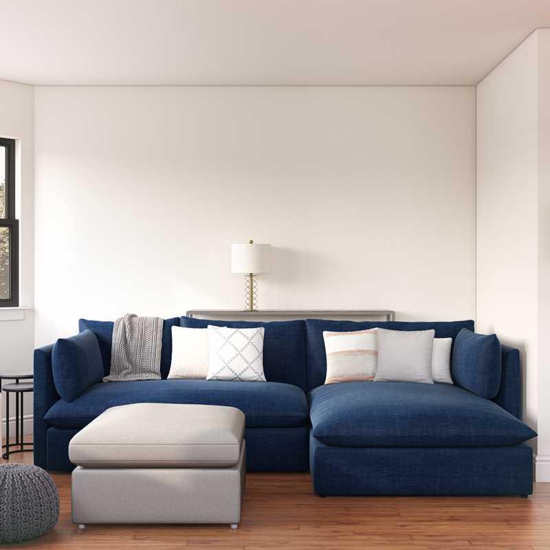 Midcentury Modern Living Room Design by Havenly Interior Designer Nina