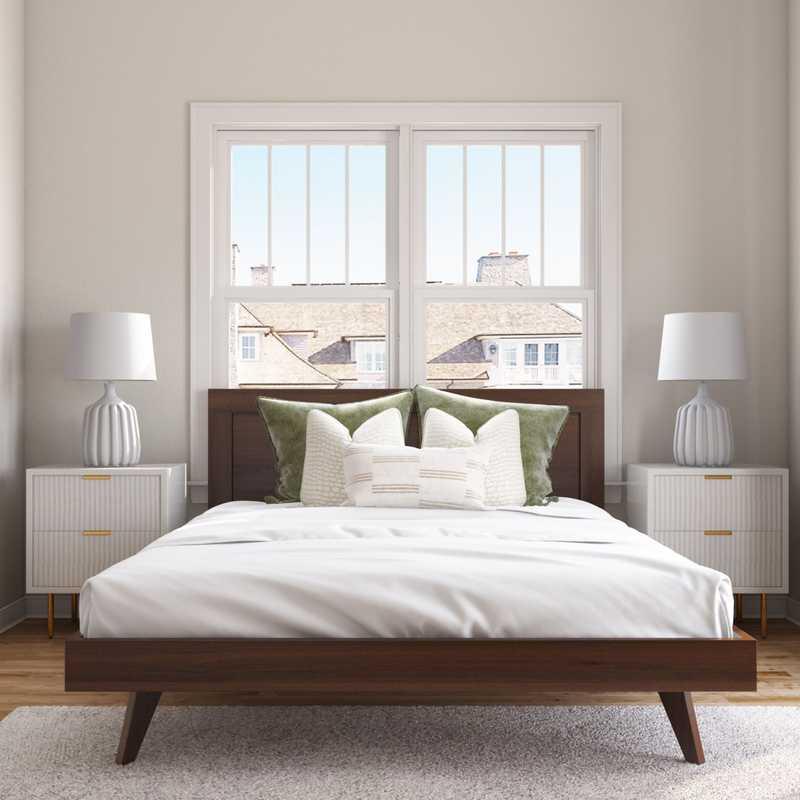 Modern, Midcentury Modern Bedroom Design by Havenly Interior Designer Katherine