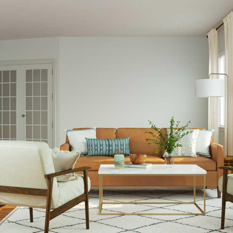 Modern, Rustic, Minimal Living Room Design by Havenly Interior Designer Lisa