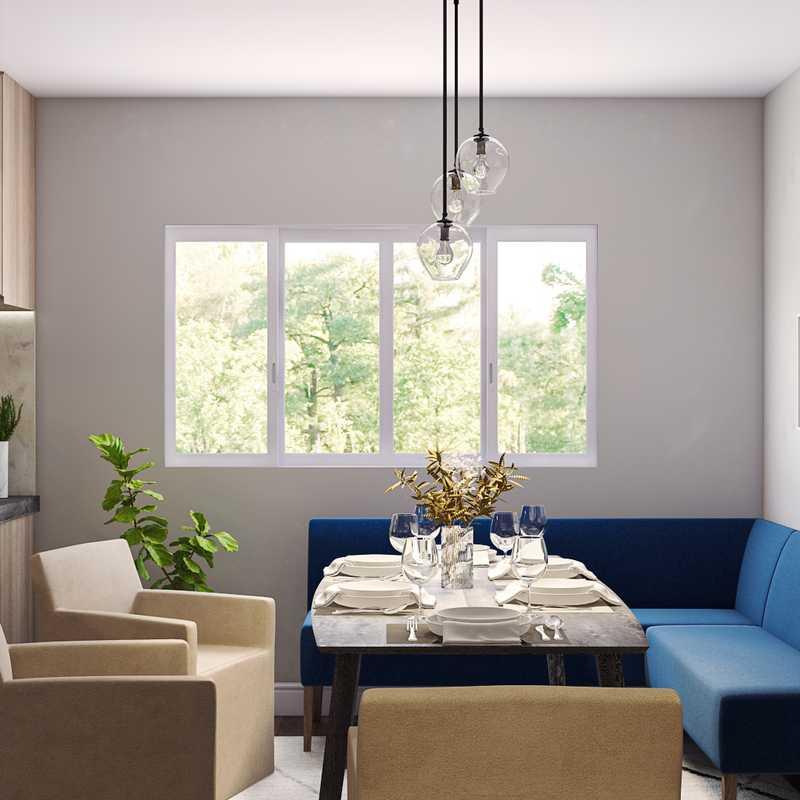 Midcentury Modern, Scandinavian Dining Room Design by Havenly Interior Designer Haley