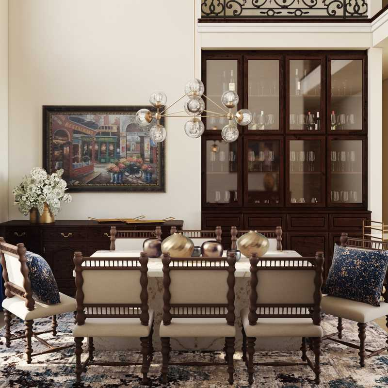 Modern, Glam, Traditional Dining Room Design by Havenly Interior Designer Maria