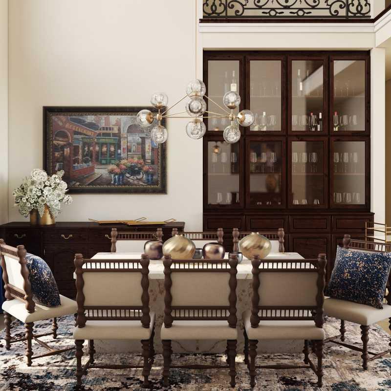Modern, Glam, Traditional Dining Room Design by Havenly Interior Designer Maria