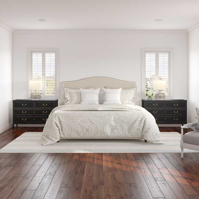Classic, Coastal, Farmhouse, Transitional Bedroom Design by Havenly Interior Designer Britney