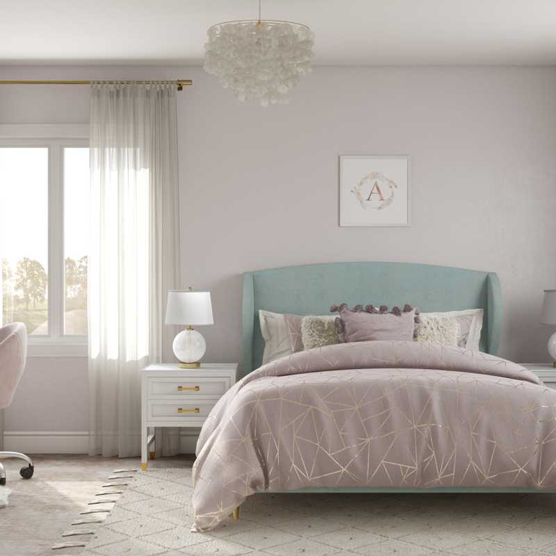 Modern, Preppy Bedroom Design by Havenly Interior Designer Fendy