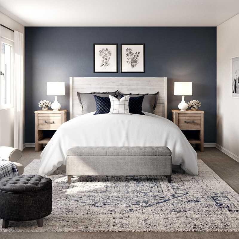 Contemporary, Farmhouse Bedroom Design by Havenly Interior Designer Jonica