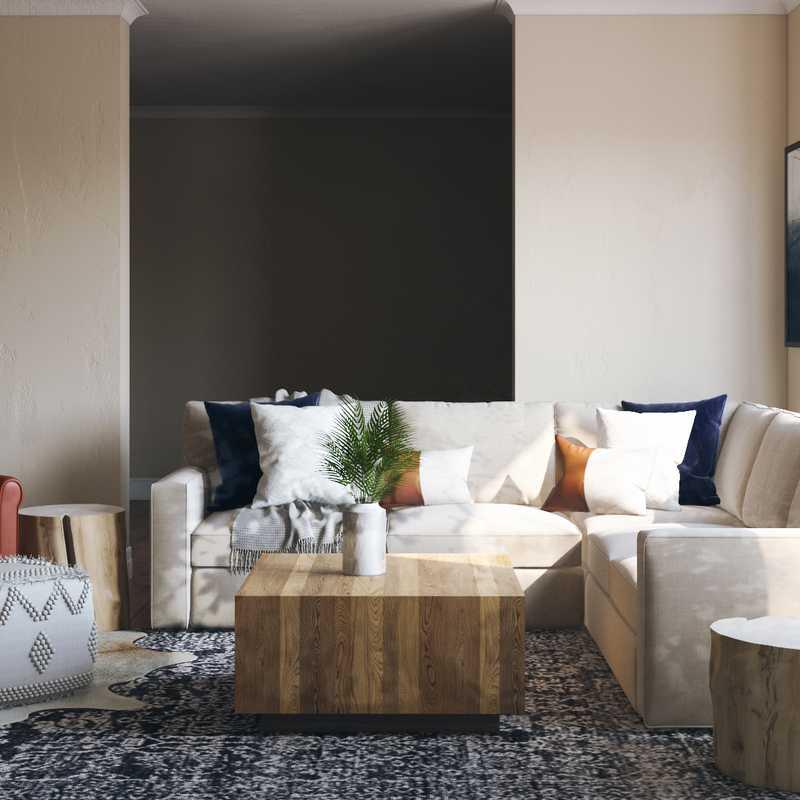 Modern, Minimal Living Room Design by Havenly Interior Designer Madison
