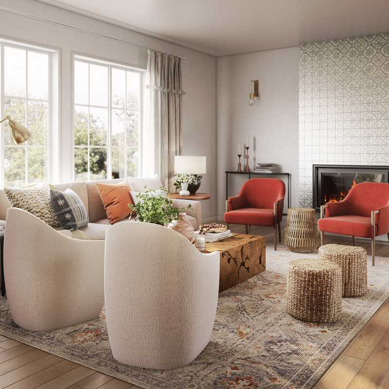 Modern, Classic, Rustic Living Room Design by Havenly Interior Designer Heather