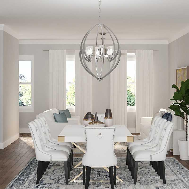 Glam, Transitional Dining Room Design by Havenly Interior Designer Tatiana