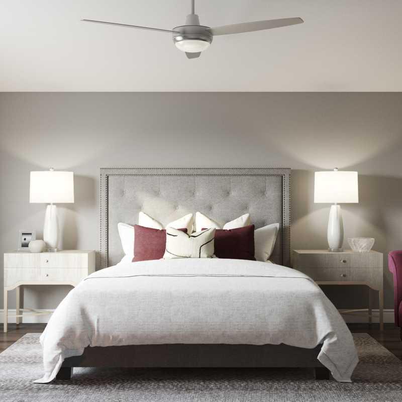 Modern, Glam, Minimal Bedroom Design by Havenly Interior Designer Megan
