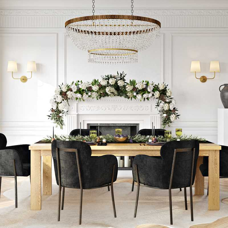 Modern, Glam, Traditional  Design by Havenly Interior Designer