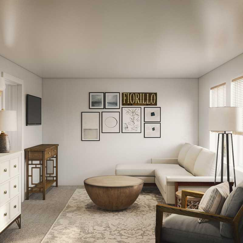 Contemporary Living Room Design by Havenly Interior Designer Julie