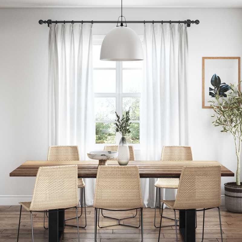 Modern, Eclectic, Bohemian, Midcentury Modern Dining Room Design by Havenly Interior Designer Karie