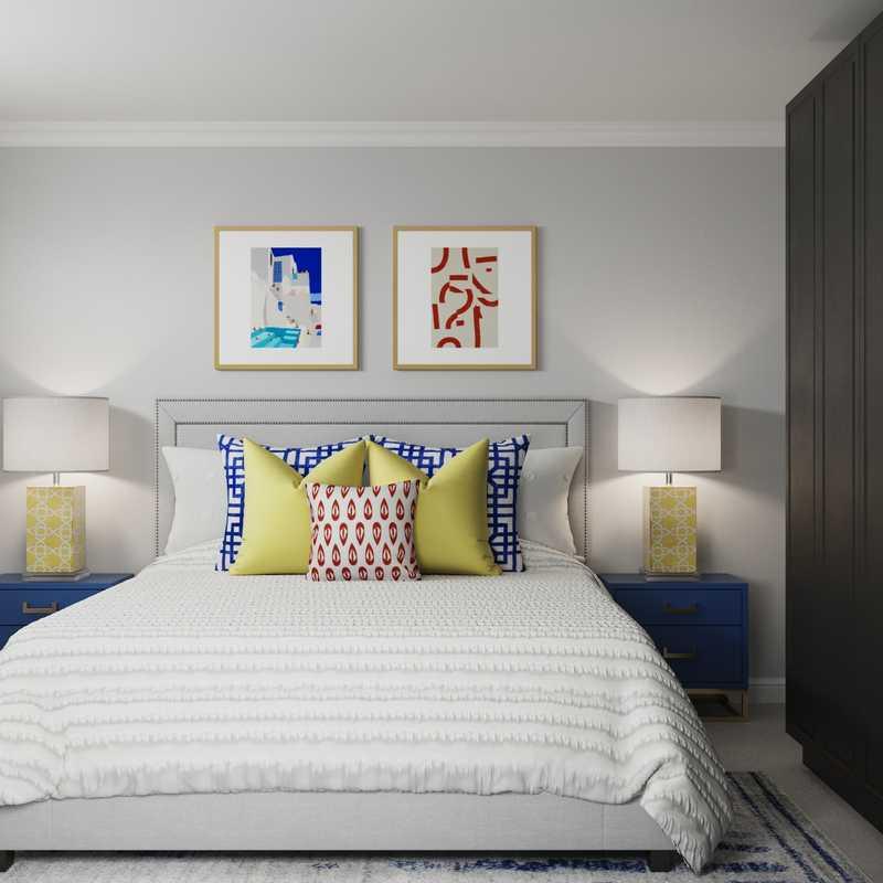 Modern, Eclectic Bedroom Design by Havenly Interior Designer Rachel