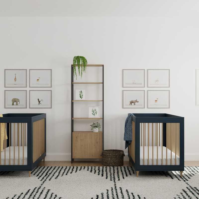 Modern, Bohemian, Midcentury Modern, Minimal, Scandinavian Nursery Design by Havenly Interior Designer B.