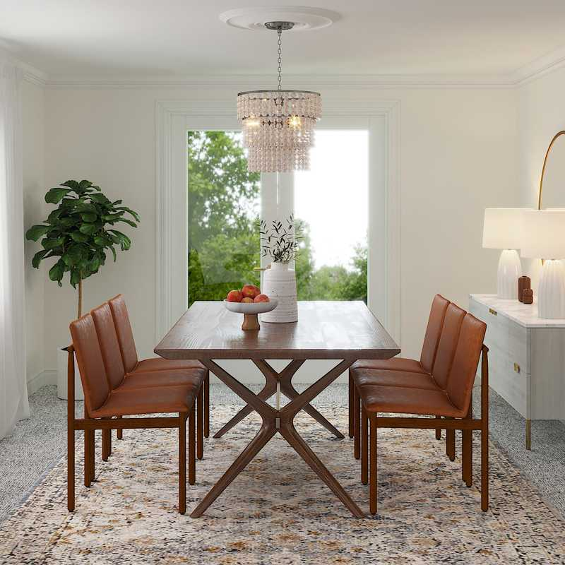 Modern, Transitional, Midcentury Modern, Scandinavian Dining Room Design by Havenly Interior Designer Stacy