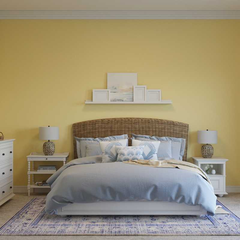Classic, Coastal Bedroom Design by Havenly Interior Designer Kelly