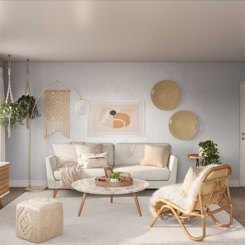 Bohemian Living Room Design by Havenly Interior Designer Karen