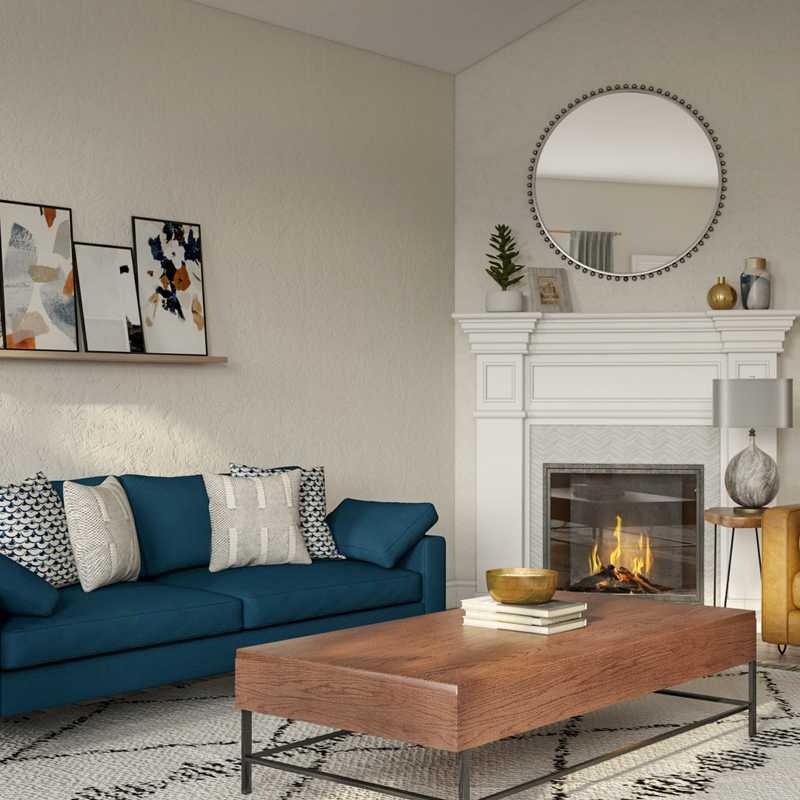 Eclectic, Midcentury Modern Living Room Design by Havenly Interior Designer Shauna