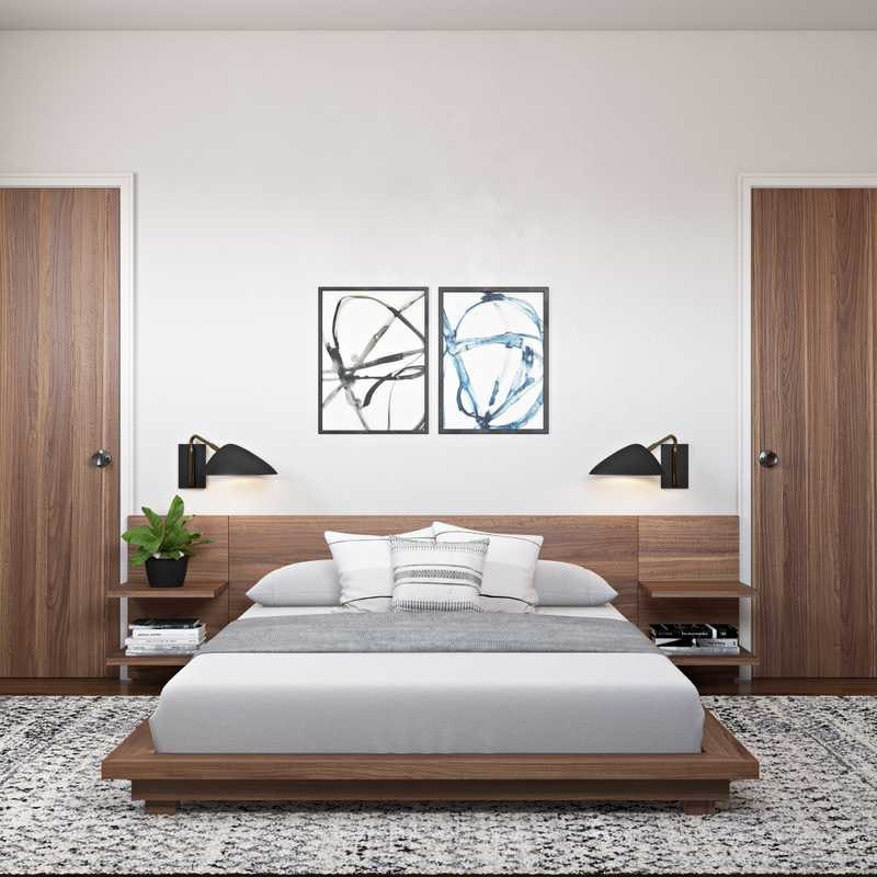 Contemporary, Modern, Eclectic, Bohemian, Midcentury Modern Bedroom Design by Havenly Interior Designer Katherine