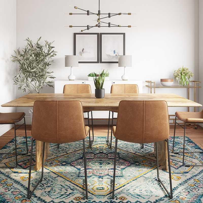 Modern, Bohemian Dining Room Design by Havenly Interior Designer Teresa