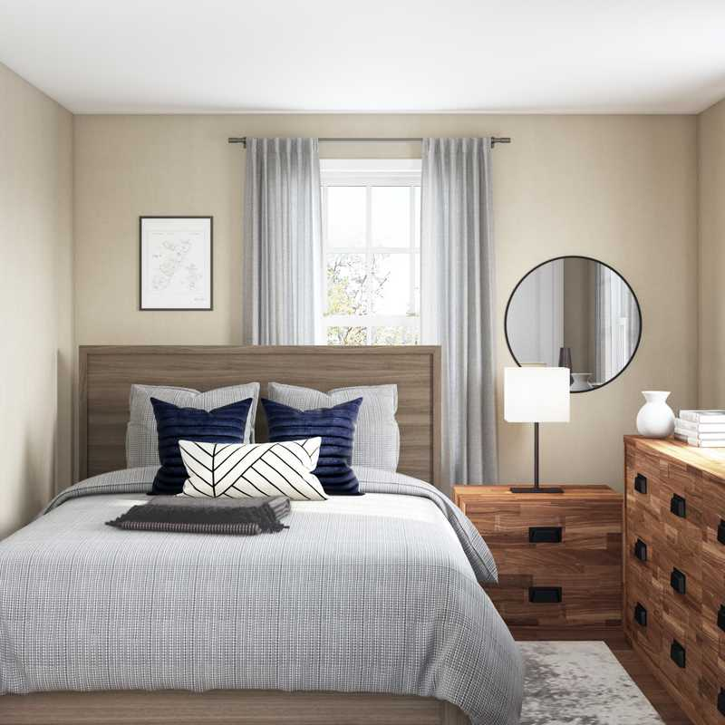 Contemporary, Modern, Rustic, Transitional Bedroom Design by Havenly Interior Designer Randi