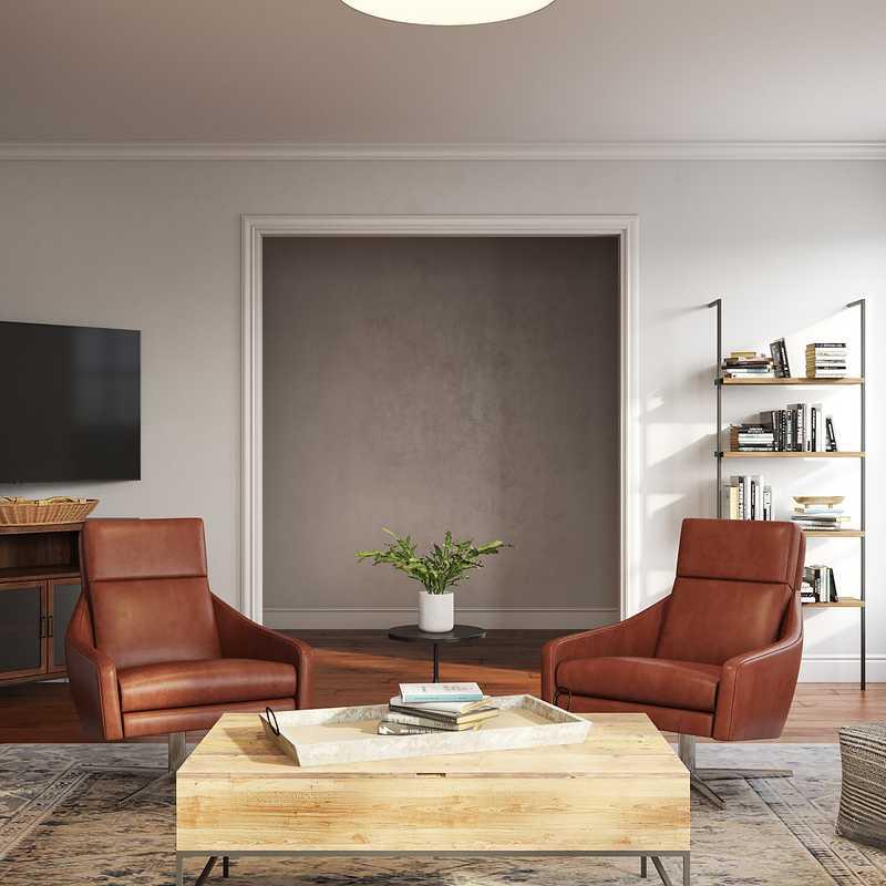 Eclectic, Coastal Living Room Design by Havenly Interior Designer Makenzie