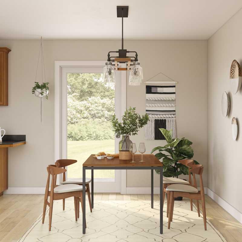 Bohemian, Midcentury Modern Dining Room Design by Havenly Interior Designer Bayleigh
