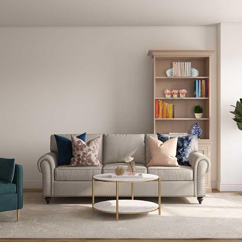 Classic, Glam Living Room Design by Havenly Interior Designer Sarah