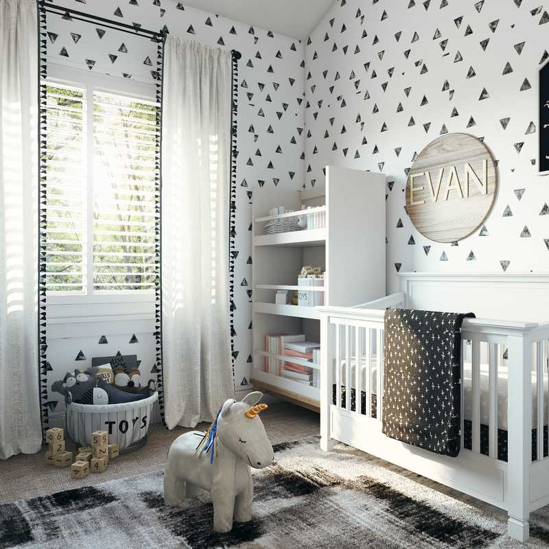 Modern, Minimal Nursery Design by Havenly Interior Designer Taylor