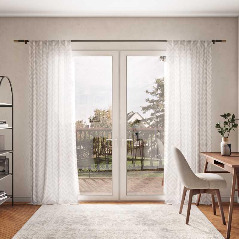 Bohemian, Farmhouse, Global, Midcentury Modern Office Design by Havenly Interior Designer Masooma